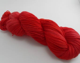 Hand Dyed Sock Yarn MCN Chili Pepper Handdyed hand-dyed