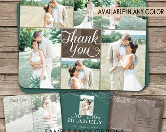 Rustic Wedding Thank You Postcard - printable card