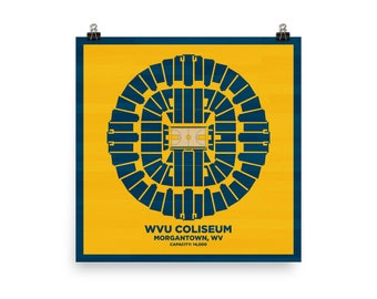 WVU Coliseum Wall Art - West Virginia University Mountaineers Basketball