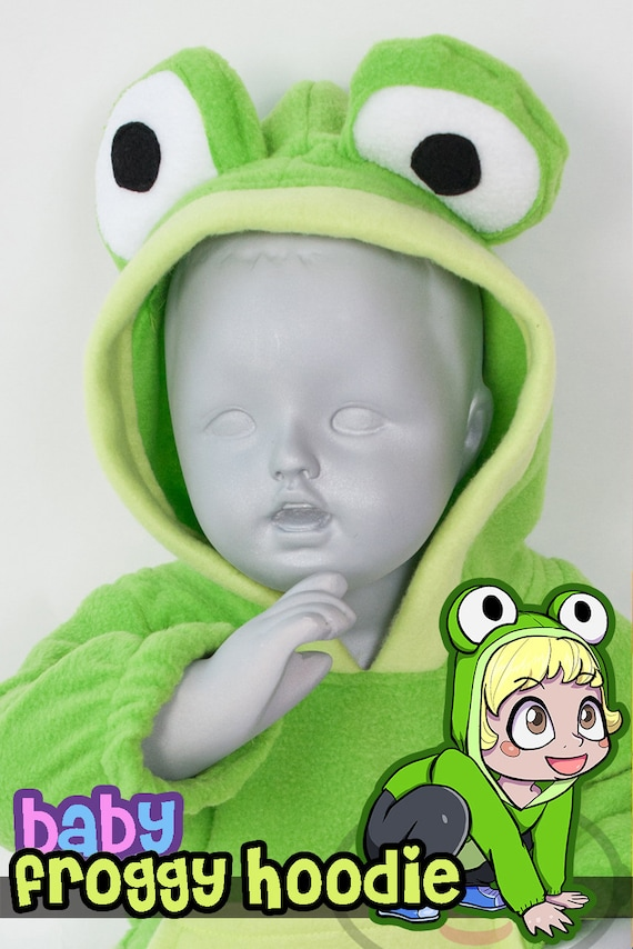 sc 1 st  Etsy & BABY u0026 TODDLER Frog Hoodie Costume Vest Jacket Hand-made