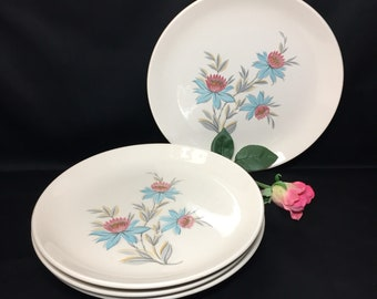 "Dinner Plates 10"" Fairlaine by Steubenville Pottery - set of 4"
