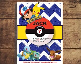 Pokemon Invitation, Pokemon Birthday Invitation, Pokemon Party Favors, Pokemon Birthday Party, Invitations Printable, pikachu, yellow