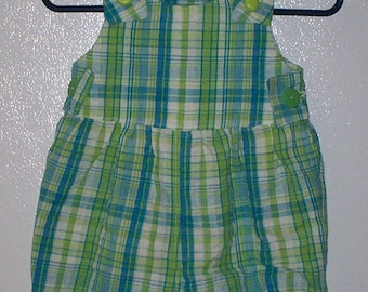 Baby Plaid Sunsuit Romper