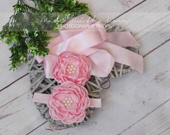 Satin Flower Sash, Satin Flower Belt, Flower Sash and Headband, Flower Girl Sash, Flower Girl Belt , Bridal Sash Belt, Bridesmaid Sash Belt
