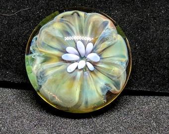 Hand Made Glass Flower - Magnet