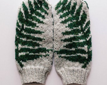 Pattern: Fern Knit Mittens