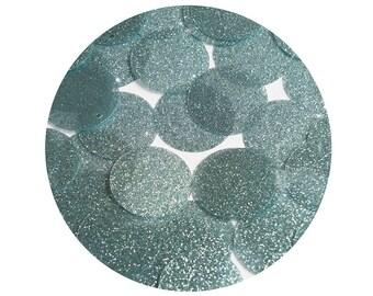 Round Sequin 24mm Aqua Blue Metallic Sparkle Glitter Texture  Loose Couture Paillettes