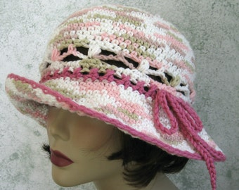 Womens Summer Crochet Beach Hat Pattern Wide Brim With Shell Stitch Band Instant Download Easy To Make May Sell Finished