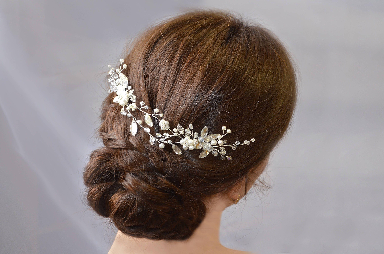 bridal hair vine bridal hair piece bridal hair comb crystal