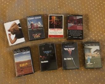 Vintage Lot of Van Halen, Sammy Hagar Cassette Tapes