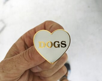 I Heart Dogs - Hard Enamel Lapel Pin