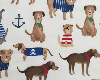 custom baby burp cloth ~ navy salty dog ~ premium 6 ply cloth diaper burp cloth ~ baby accessories ~ from lillybelle designs
