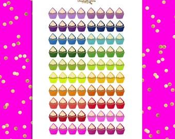 50% OFF DIY Rainbow Cupcakes  Yummy Snacks Treats 80 Printable Planner Stickers pdf