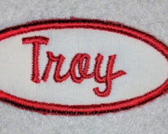 Gas station style patch - your name