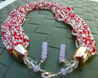 Multistrand Red and White