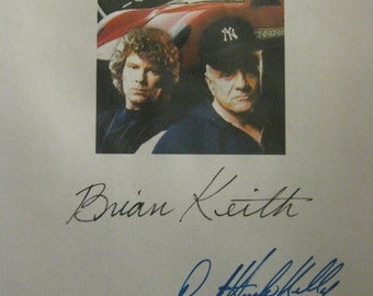 Hardcastle and McCormick Signed TV Script Screenplay Autograph X2 Brian Keith Daniel Hugh Kelly reprint signature What's So Funny classic