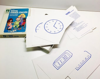 "Ideal Time Flash Cards - Aprox. 5"" x 7"" Cards - No 7231"