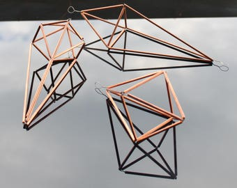 Copper Air Plant Holders • DIY Kit of 3 • Himmeli • Free Shipping
