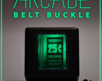 Arcade Belt Buckle... that lights up - Antique Green
