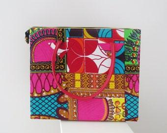 Multi Color Ankara Bag, African Print Bag   (BAB6)