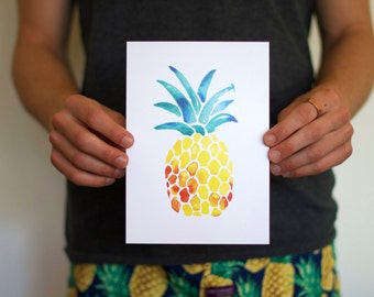 Pineapple A5 Print