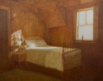 """Giclee archival print of the painting """"Room Three, Last Clean"""" signed by the artist."""