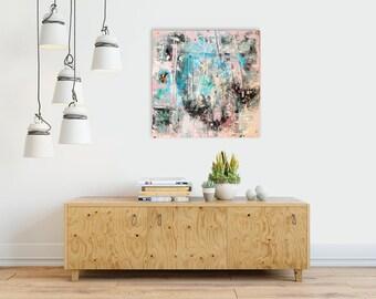 Palette knife, Acrylic Original Art, Original Art, Art painting,Living Room Art,Feminine Colors Art,Painting Original,Original Abstract, Art