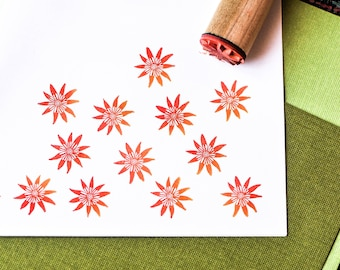 Sunshine Flower Rubber Stamp