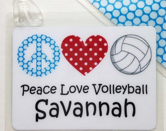 Volleyball Bag Tag Volleyball Mom Gift Volleyball Team Gift Volleyball Party Favor Personalized Tag Custom Volleyball Bag Tag Personalized