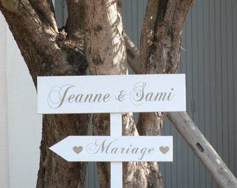 Flèches en bois personnalisables pour mariage.Pancartes personnalisables .Flèches mariage.Decoration mariage  champêtre .