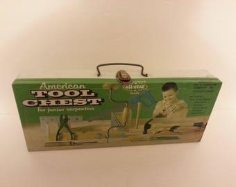 "Vintage ""American Tool Chest for junior carpenters"""