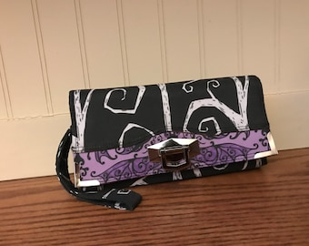 Mystical wallet, Tim Burton wallet, Nightmare before Christmas wallet, Clutch, Wristlet, Mini purse,