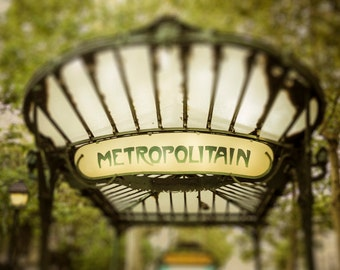 Paris Photography Metro Entrance Beaux Arts Paris Architecture Muted Colors Dreamy France Photo par64