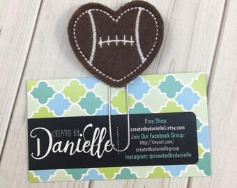 Football Heart Planner Paper Clip, Football Team Mom Gift Idea, Planner Bookmark, Football Gift, Office Accessory