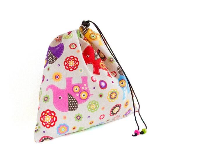 Toddler Bag. Lingerie Bag, Drawstring Toy Bag. Gifts For Girls. Shoes Bag