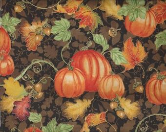Harvest Bounty - Per Yd - Quilting Treasures - Beautiful Fall fabric - Pumpkins