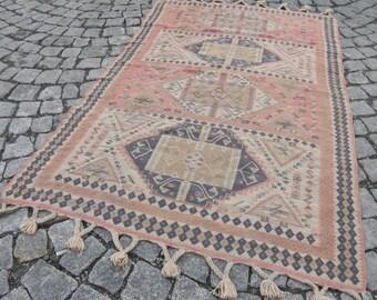 turkish kilim rug decorative kilim rug soft colours kilim rug decor rug,