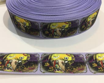 3 Yards of Ribbon 1 inch Wide - Inspired by Nightmare Before Christmas