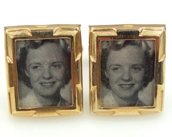 Retro Photo Cufflinks Never Used New Old Store Stock Cuff Links