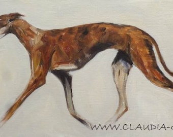 Spanish Greyhound (Galgo) original painting