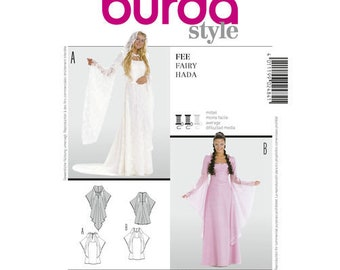 Burda Pattern 2484-Lord of the Rings, Maid Marian Ren Faire Costume Dress size 10-20