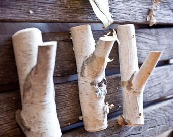 3 рс. Natural Branch Wall Hooks, Rustic Wooden Coat Hooks, Coat Rack, Birch Wooden Hook, Ructic Home Decor, Tree Log, Decorative Branches