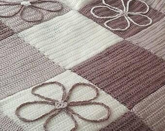 Flower Patchwork Crochet Throw.