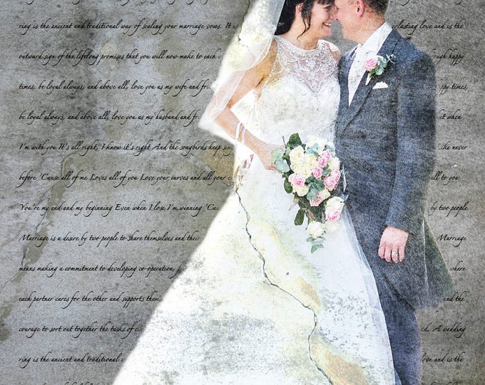 2nd Anniversary Gift Cotton Anniversary 1st Anniversary First Dance Lyrics First Dance Songs Wedding Song Lyrics Wedding Vows Print 16x20
