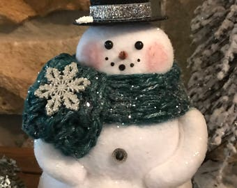 Decorative Snowman with Glittered Top Hat