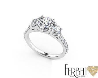 18K/14K  Moissanite Engagement Ring