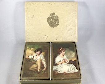 Vintage Rare Age of Innocence Boy With Rabbit Double Deck Playing Cards-Sir Joshua Reynolds-Sir Henry Raeburn-Art Playing Cards-Card Set