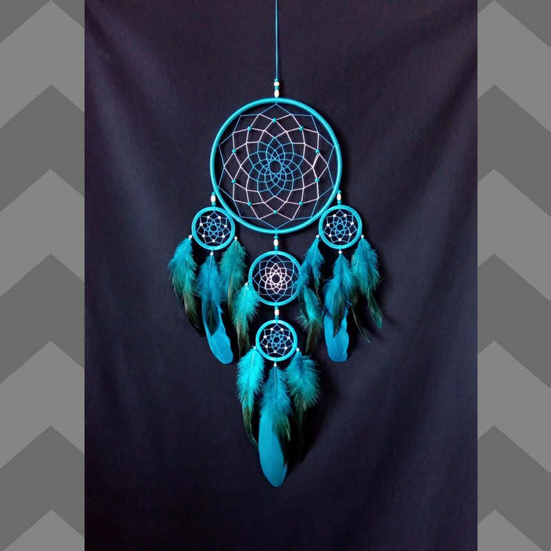 Can Dream Catchers Get Full Dreamcatcher large Dream catcher turquoise indian talisman 3