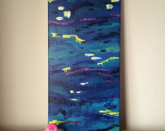 Original Acrylic Abstract Painting on Canvas, Abstract Art, Modern Art, Abstract Painting