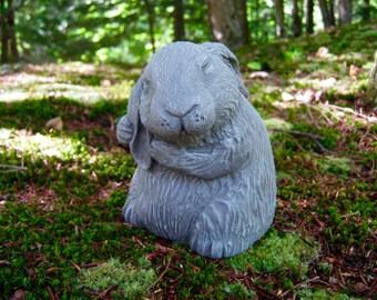Rabbit Statue, Garden Rabbit Statue, Bunny Rabbits Statue, Concrete Rabbit, Cement Rabbit Statues, 5 inch Bunnies, Rabbit Statues, Figures.